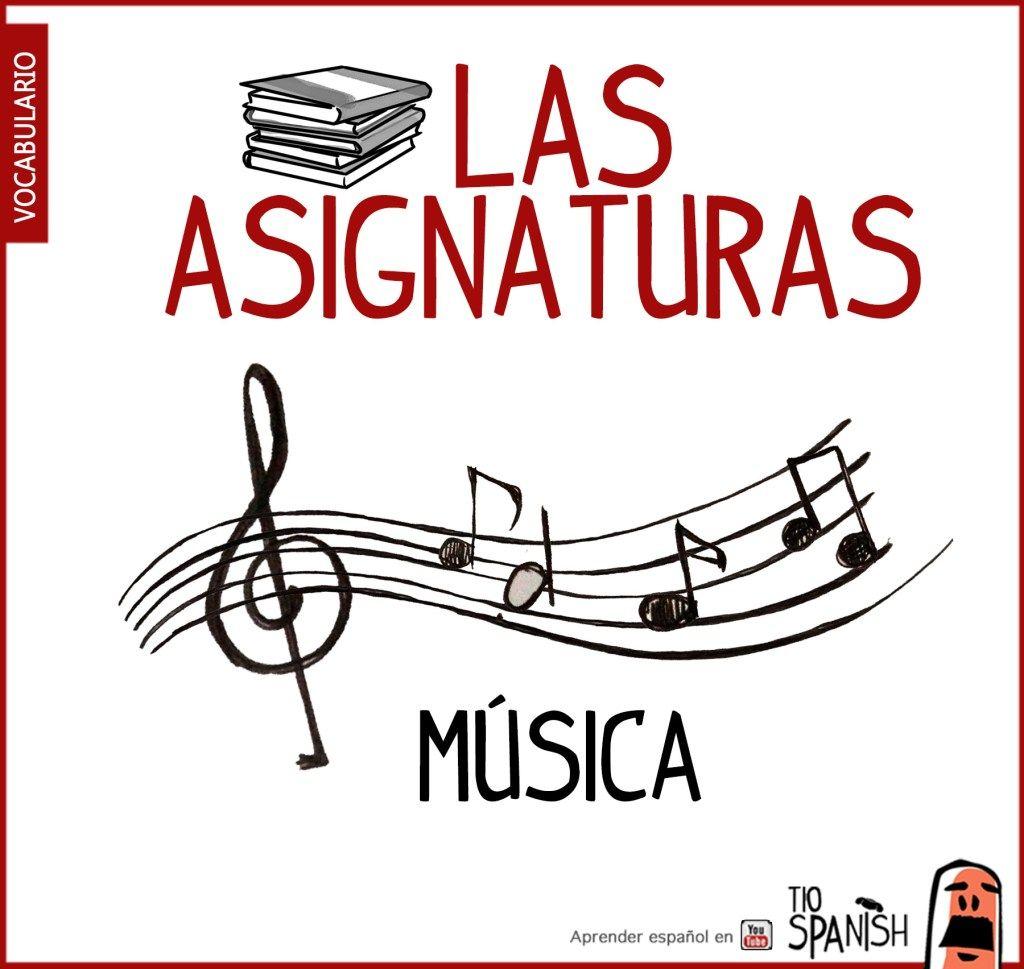 musica, nombre de las asignaturas en español