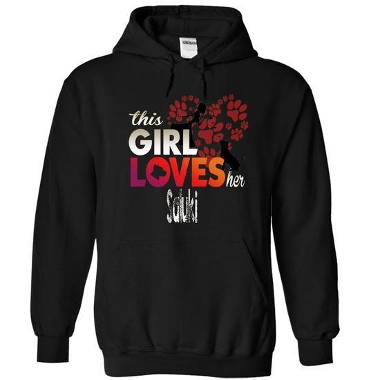 This Girl Loves Her SALUKI T Shirts, Hoodies. Get it now ==► https://www.sunfrog.com/Pets/SALUKI-4828-Black-12471154-Hoodie.html?57074 $39.99