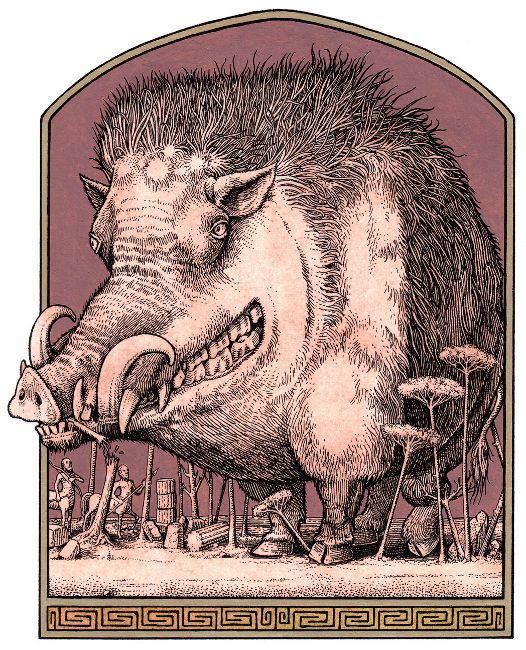 Image result for medieval manuscript crazy boar