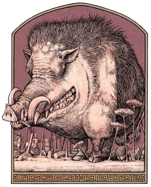 Image result for medieval manuscript crazy boar