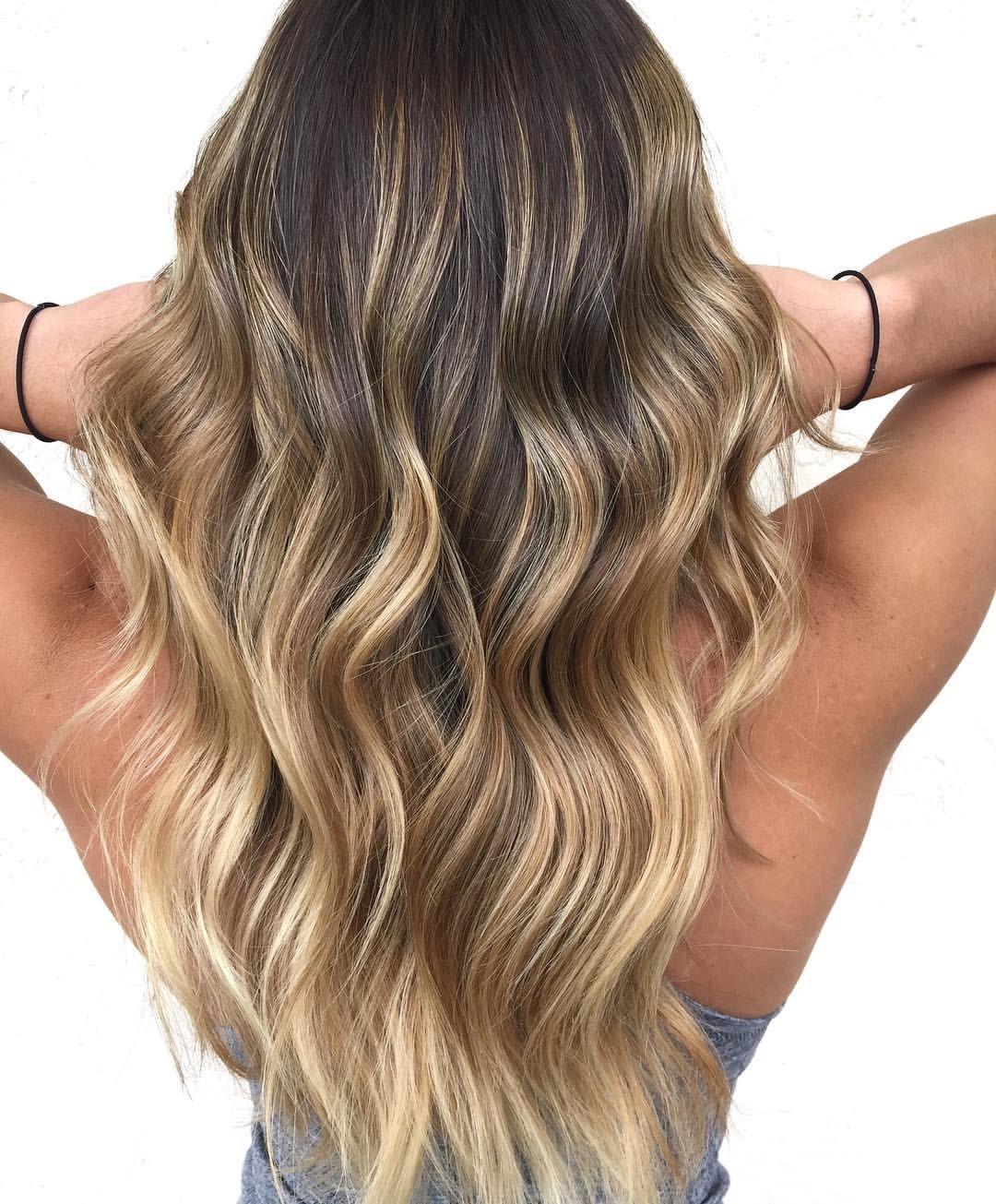 Sun Kissed Blonde Balayage Balayage Highlights On Brunette Hair