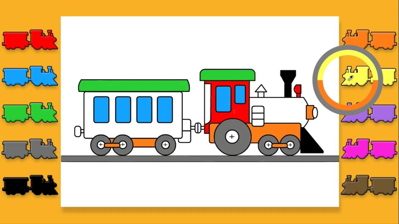 Art School Preschool Train Coloring Pages For Kids To Learn Colors Coloring Pages For Children Train Coloring Pages Learning Colors Coloring Pages For Kids