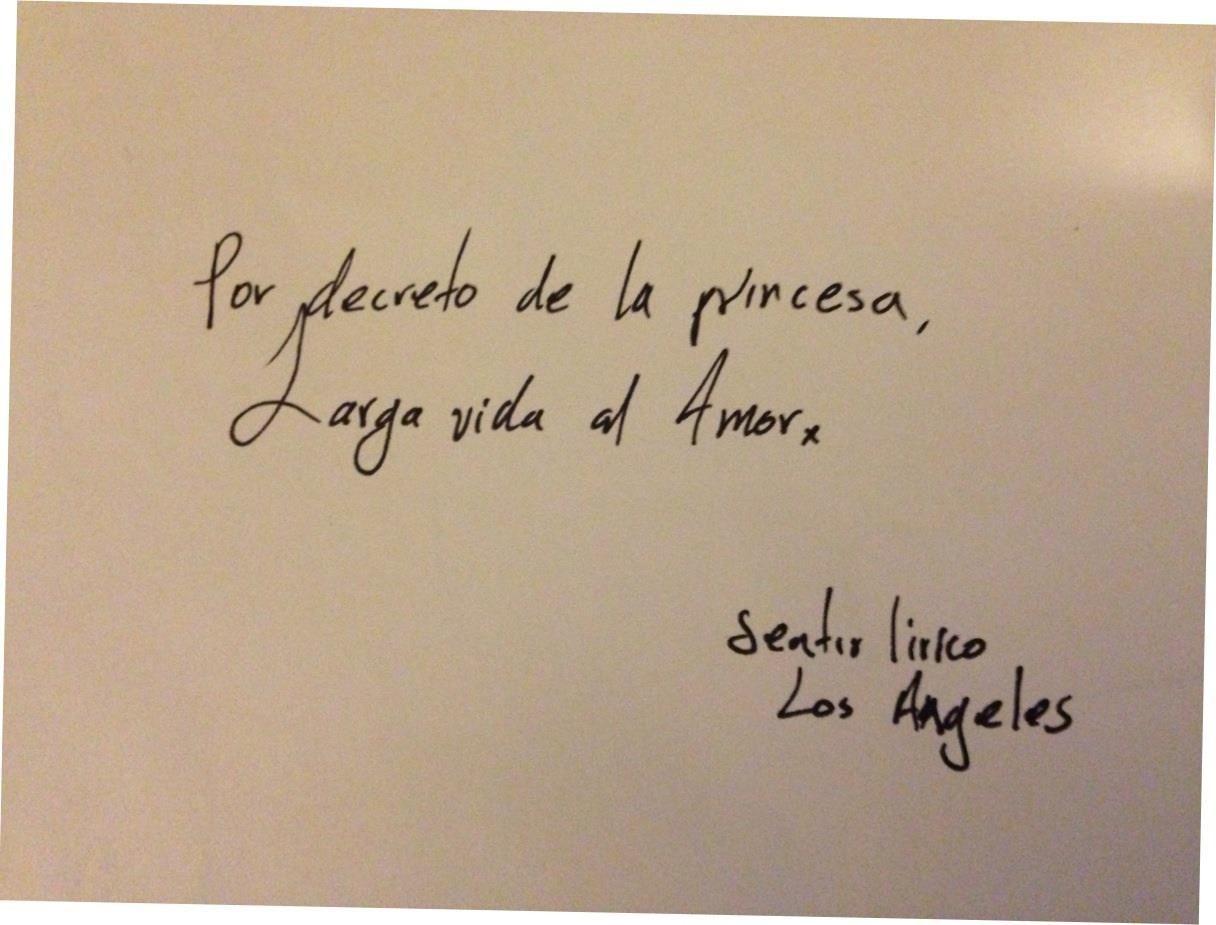 Por decreto de la princesa, larga vida al amor