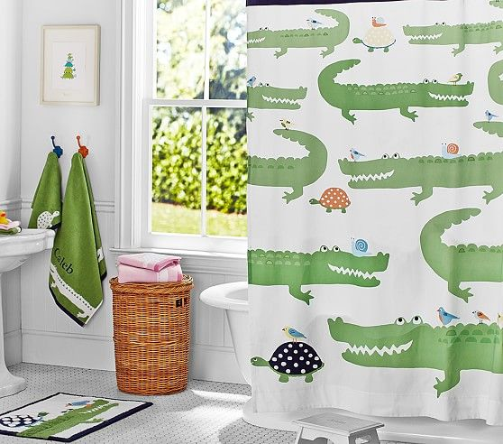 Create The Perfect Kids Bathroom Kids Shower Curtains And Bathroom Bath Mats From Pottery Barn Kids In Fresh Styles And Fun Colors Our Kids Bath Shower