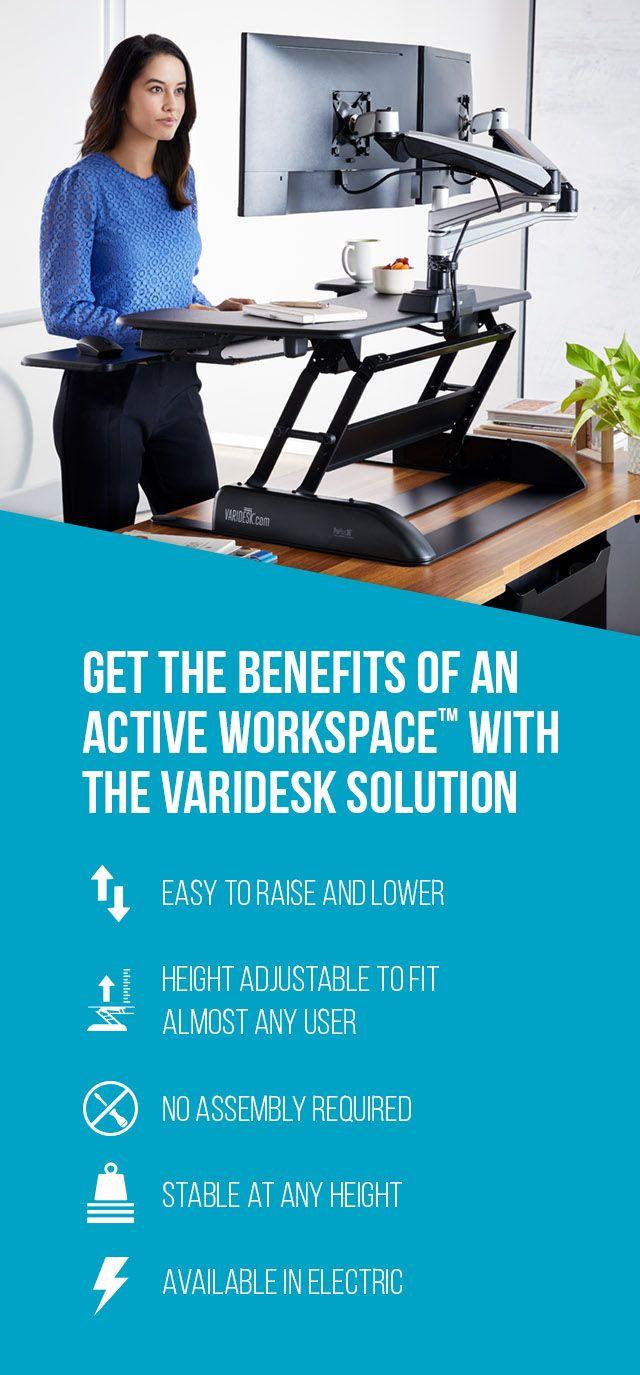 Sitstand desk solutions varidesk height adjustable desks office