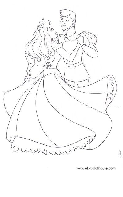 coloriage la belle au bois dormant | dibujos | Pinterest | Princesas ...