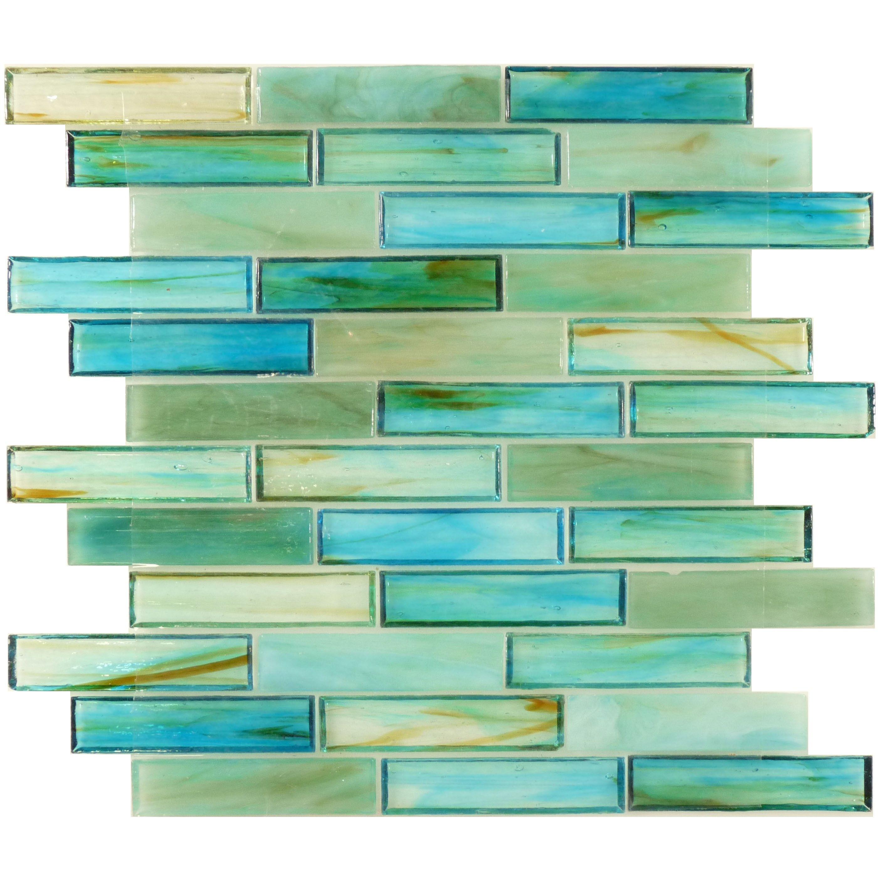 Tropical Caribbean Green Glass Tile 1 X 4 For Pool Or Bathroom Green Backsplash Kitchen Tiles Backsplash Sea Glass Tile