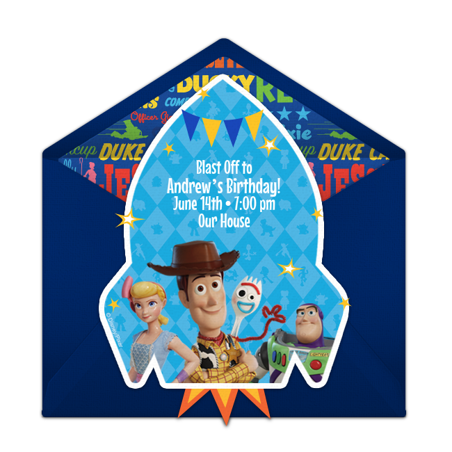 Free Toy Story 4 Invitations Toy Story Invitations Toy Story Birthday Party Supplies Toy Story Birthday