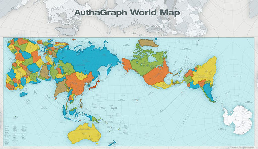 Authagraph wprld map | World map design, Most accurate world ...