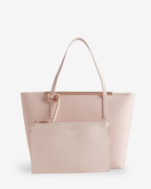 Leather shopper bag - Nude Pink | Bags |