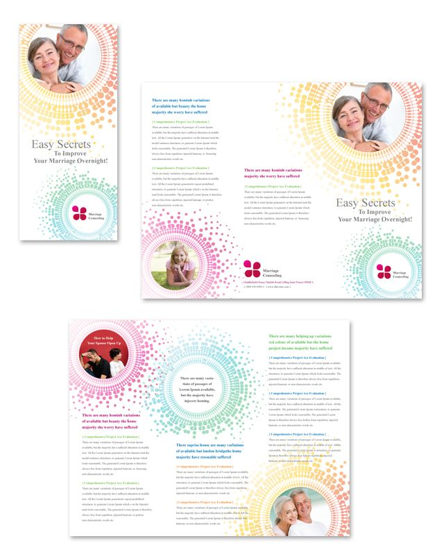 Marriage Counseling Tri Fold Brochure Template Brochure Flyer