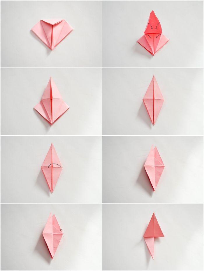 1001 + modèles d'origami fleur facile pour célébrer le retour du printemps   Fleur origami ...