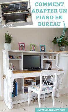 Adapter un piano droit en bureau piano droit mobilier remis neuf et meubles surcycl s - Customiser un bureau ...
