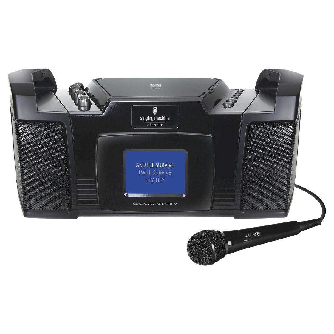 Singing Machine Portable Karaoke Machine with Co ...