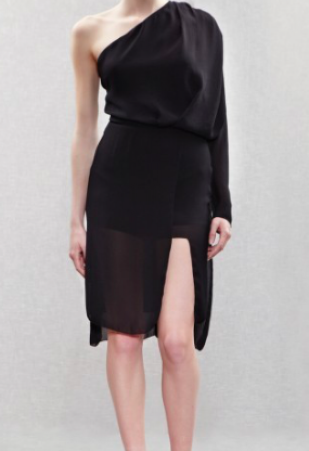 98ecc9294ea0 Acne Elaine Crepe One Shoulder Dress. Den har en åben ryg