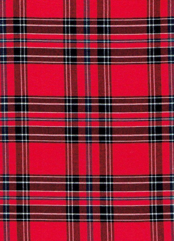 Fabric Red Clash Of The Tartans Checkered Tartan By The Yard In