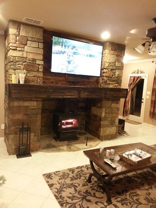 Wood Stove With Stone Surround Ditch Works Fireplaces