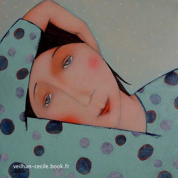 Cecile Veilhan B1965 Nantes Dessins Colores Tableau Dessin