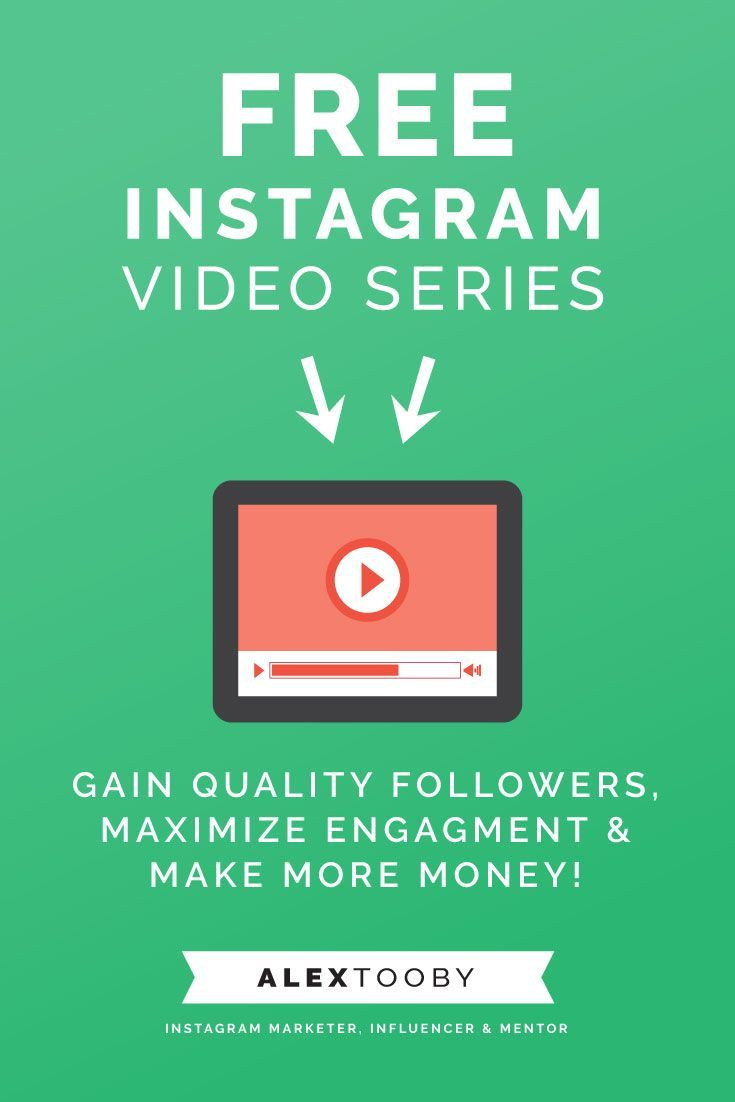 Instagram expert Alex Tooby breaks down everything you need to know to reach real success on Instagram. This 3 part video series is definitely worth watching!