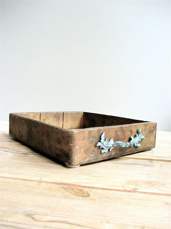 Vintage Upcycled Wooden Box, via Etsy.