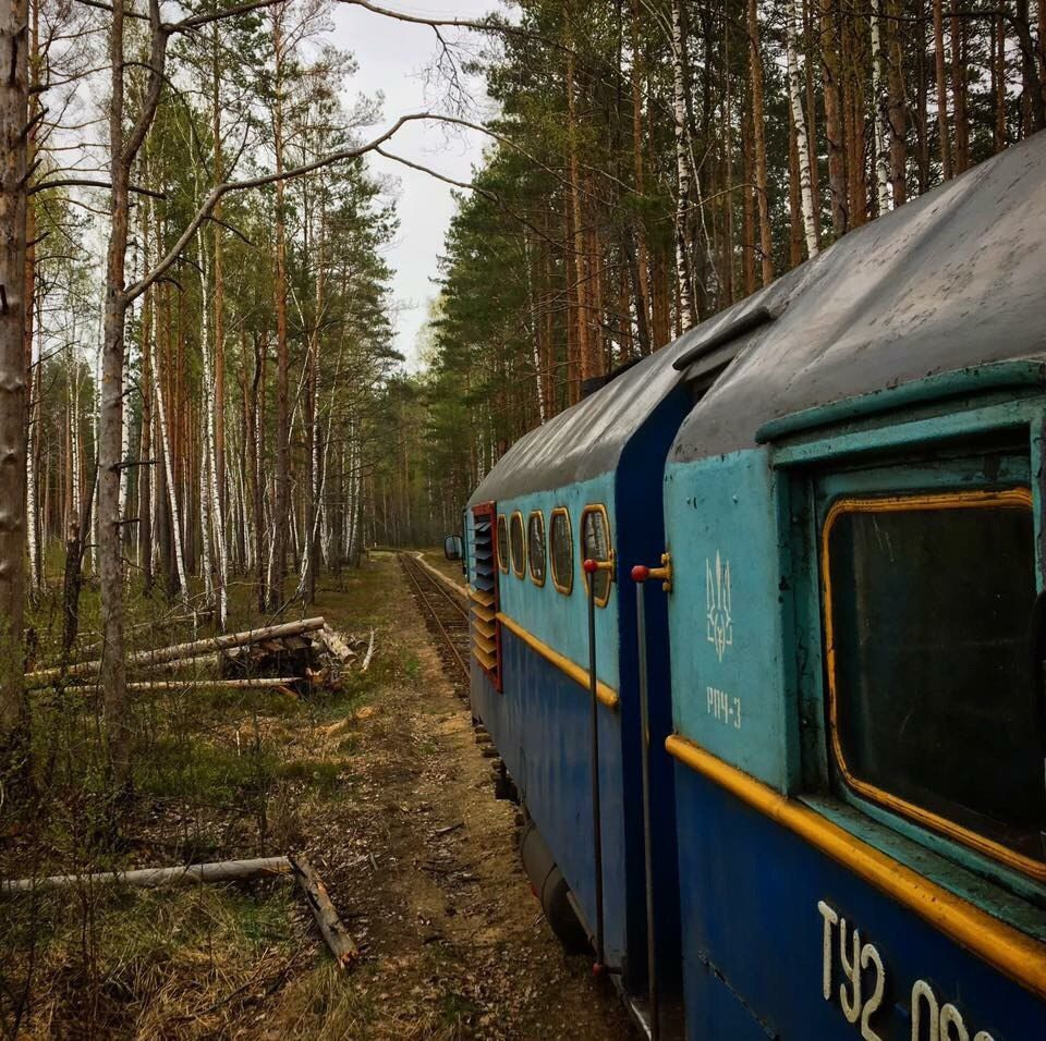 """Вузькоколійна залізниця Антонівка - Зарічне.  В народі """"кукушка"""", """"полісський трамвай"""""""