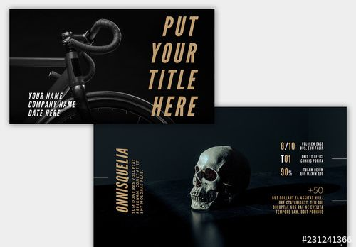 Dark Web Presentation Layout with Yellow Accents