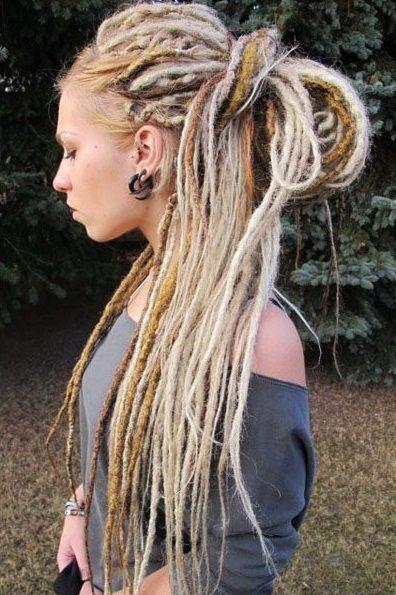 White Dread Blonde Dreadlocks Blonde Dreads Hair Styles