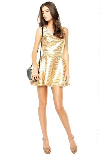 Vestido Colcci Dourado - Compre Agora | Colcci Brasil