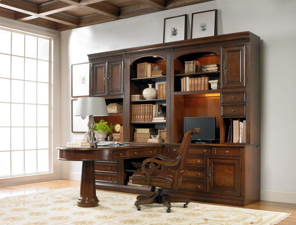 Buro Schreibtisch Schrankwand Echt Holz Home Office Mobel
