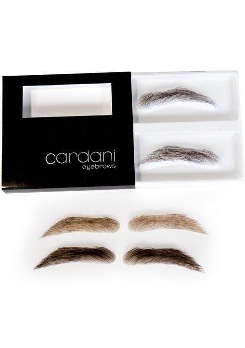 Cardani Fake Eyebrows For Men Human Hair Stick On Eyebrow Wig