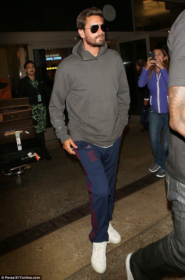 Something keeping you up?Scott Disick, 34, looked exhausted as he arrived at LAX airport on Friday, after he was seen getting close to eight different women in as many days in Cannes