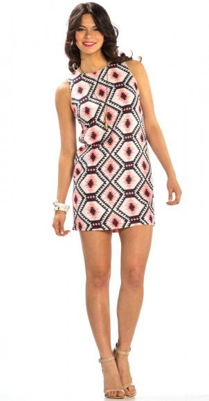 Total Mod Dress is on trend with a great print for Spring