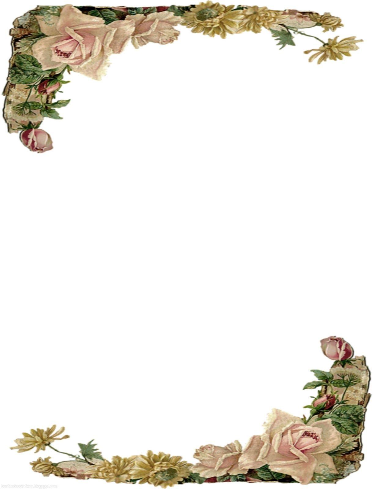 decoracion de margenes para hojas vintage - Buscar con Google ...