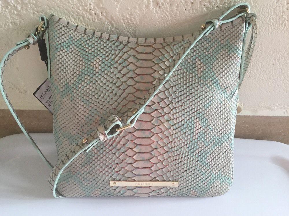 2fae95087e Brahmin Jody Crossbody Opal Seville H787180F Snake Embossed Leather ...