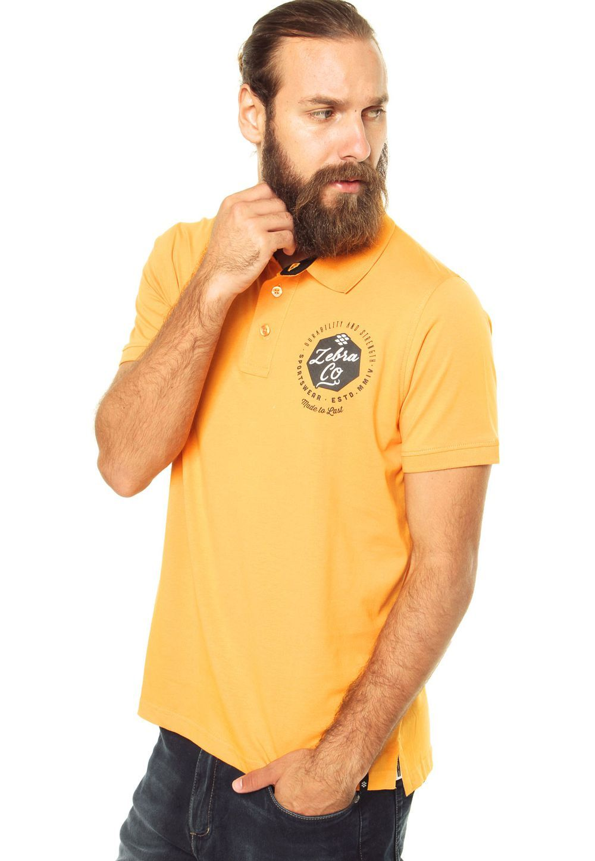 Camisa Polo Zebra Company Laranja - Laranja  dd232df0cb4d1