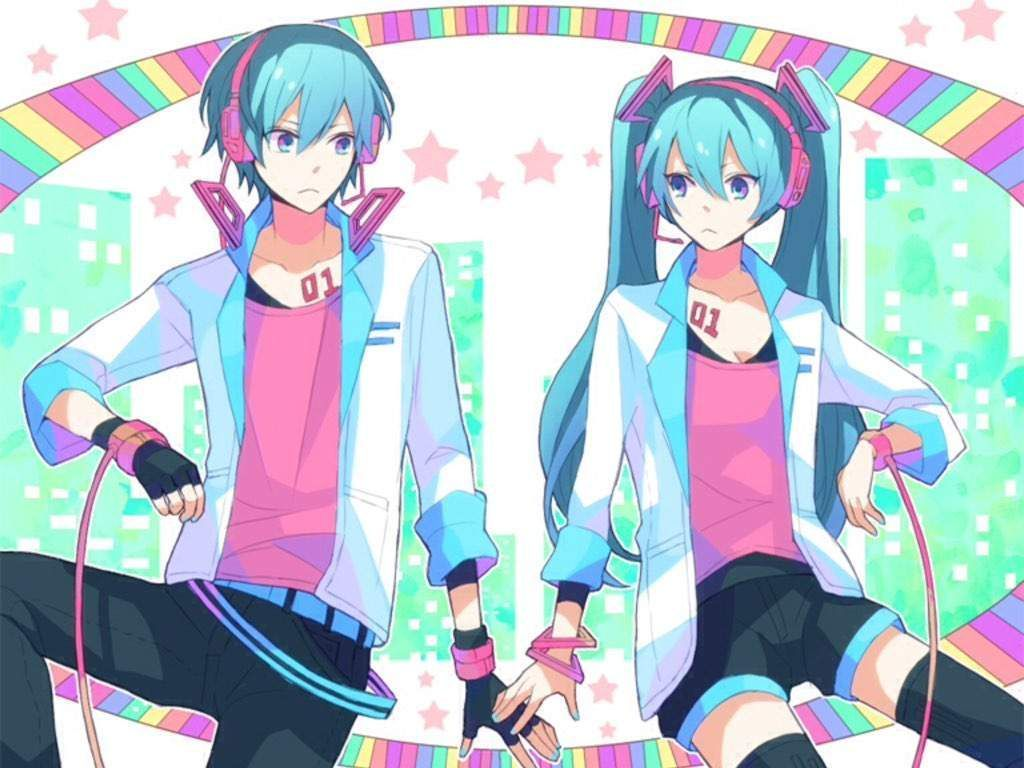 Imágenes De Las Parejas Vocaloid - miku x mikuo