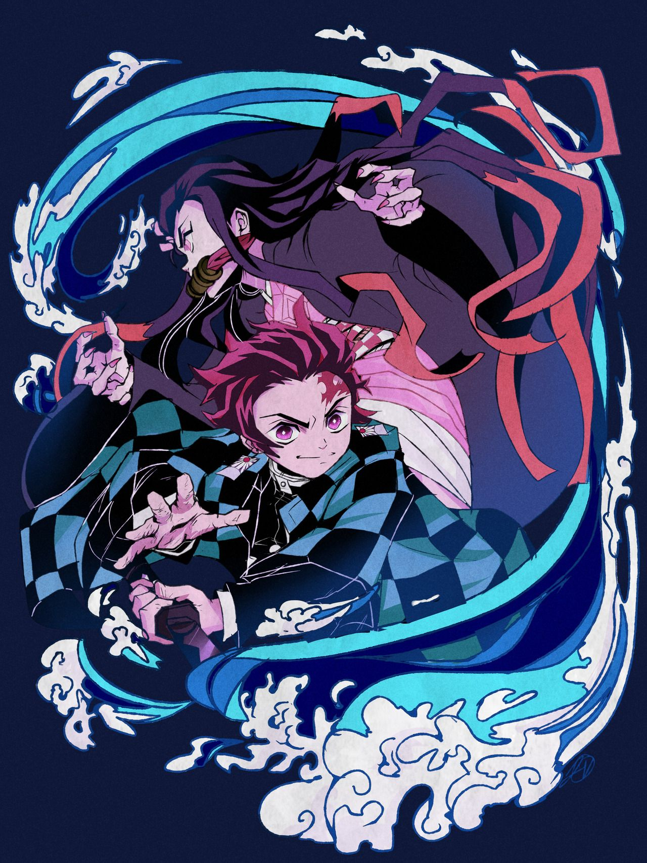 It S Honestly Insanely Fun To Draw In This Style First Thing I Ve Ever Drawn Of Kimetsu No Yaiba Please Give The Manga And Ani Anime Demon Slayer Anime Anime