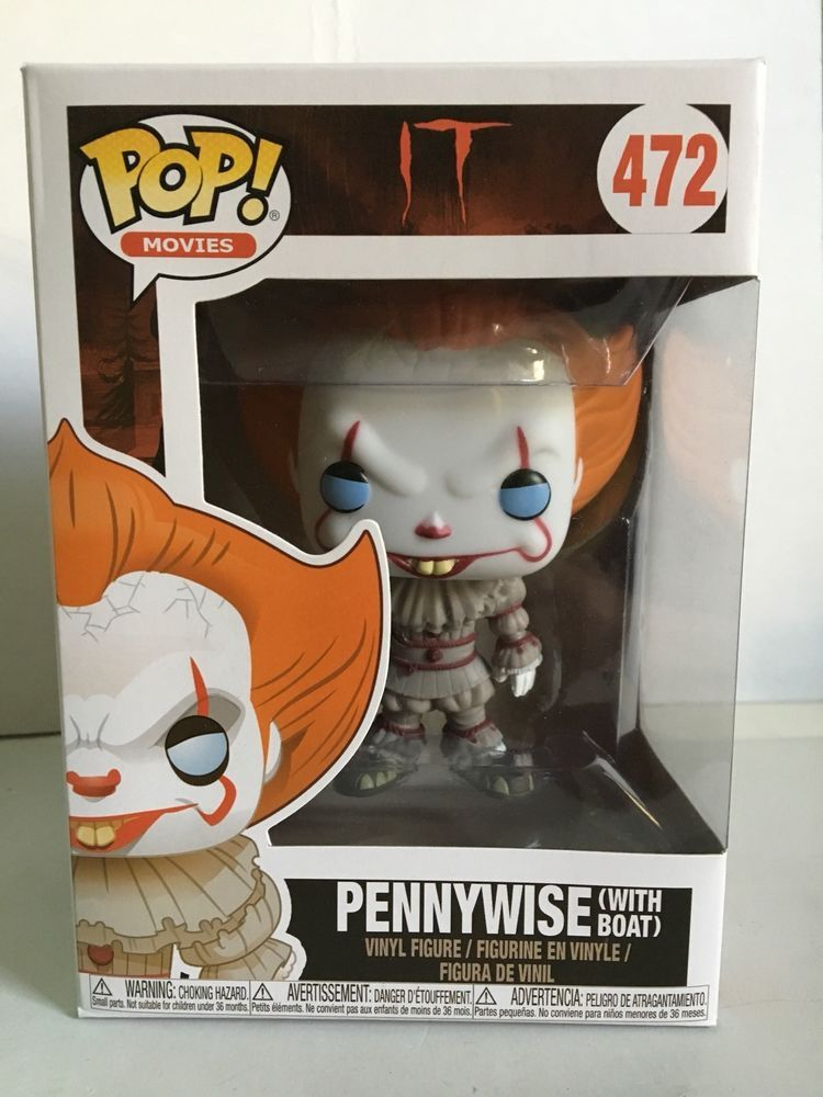 Funko Pop Movies It Pennywise With Boat 472 Vinyl Figure Common Blue Eyes Vinyl Figures Funko Pop Horror Pennywise