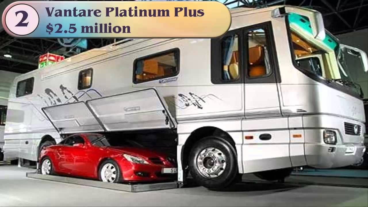 Top 5 Most Expensive Motorhomes Rv Recreational Vehicles In The