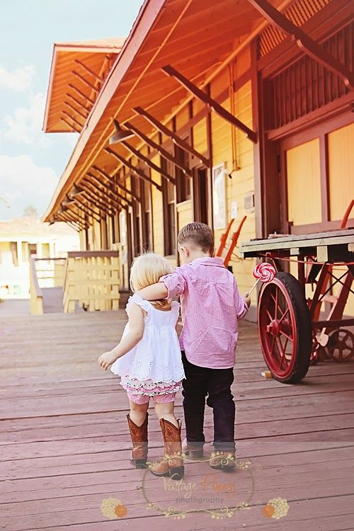 Vintage Childrens Photography Session With Cowboy Boots TOO Cute