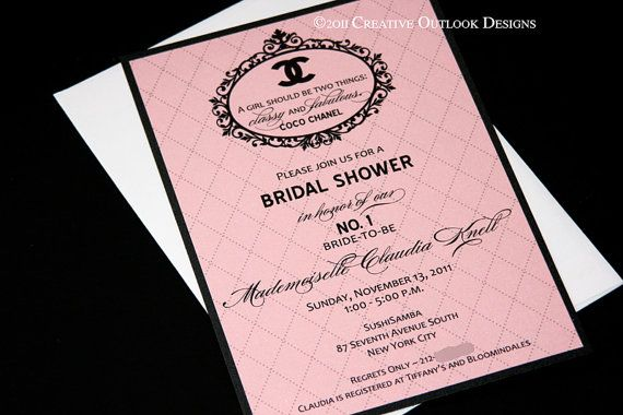 Pink and Black Classy Fabulous Bridal Baby Birthday Invitation