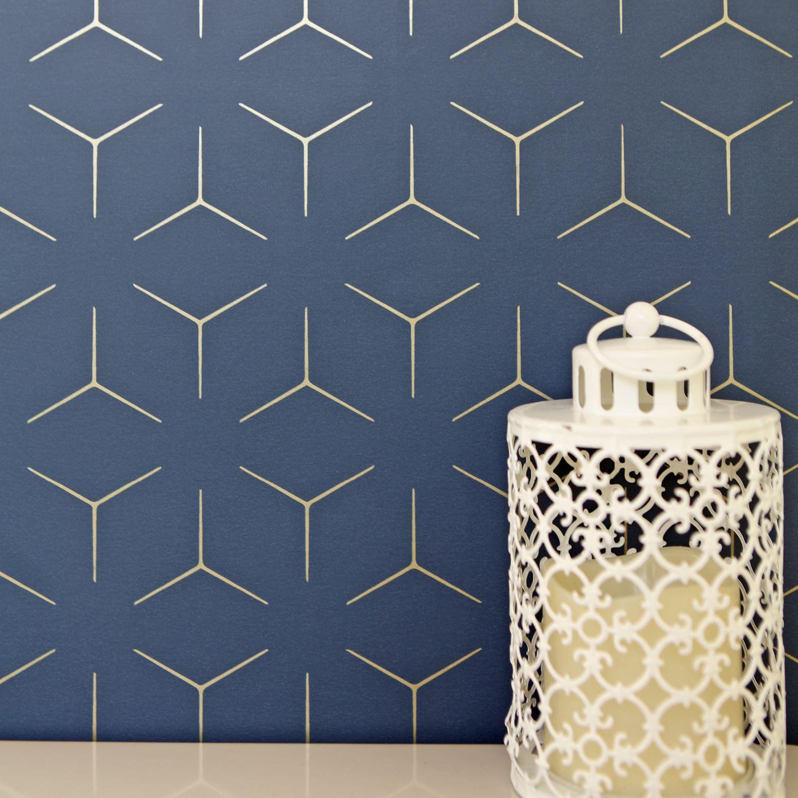 wallpaper removable navy gold Recherche Google Blue