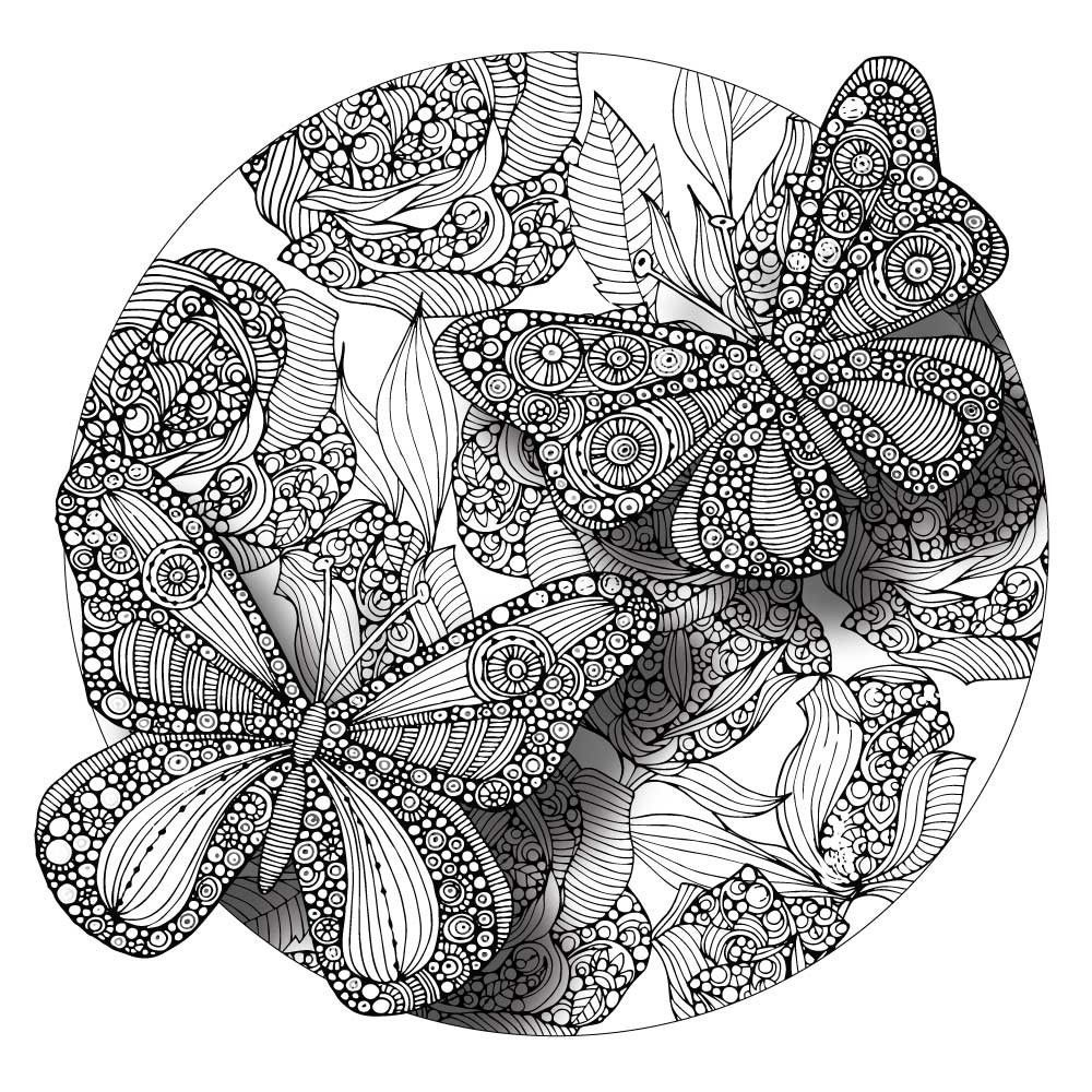 Divine Butterflies Mandala ColorMe Decal by Valentina Harper ...