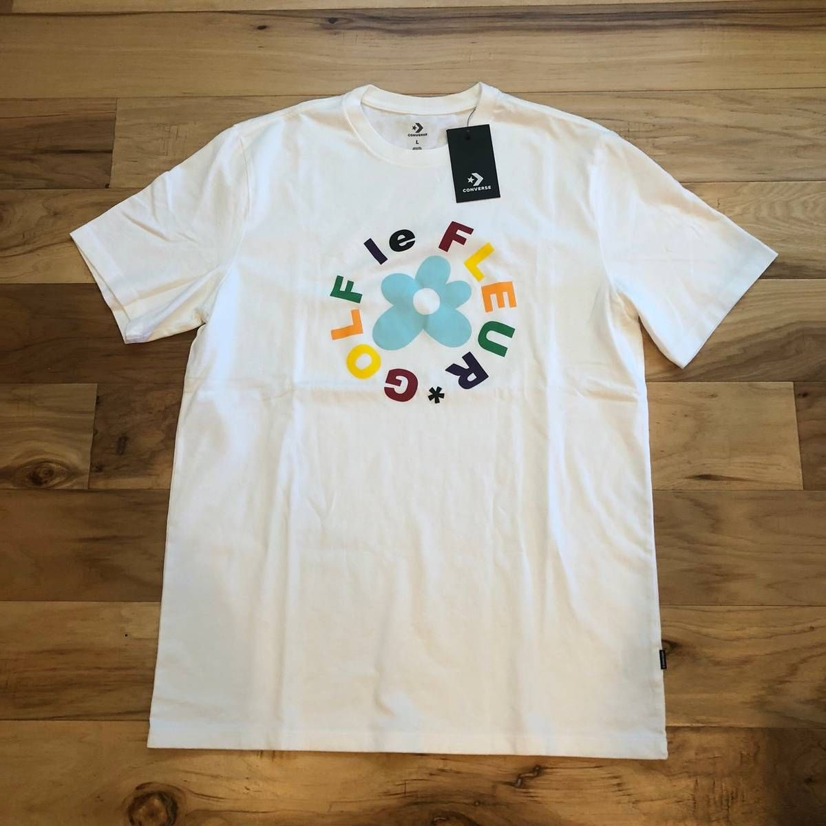 aa13a8d2236fe7 Converse Golf Wang Le Fleur Logo Tshirt Size l - Short Sleeve T-Shirts for  Sale - Grailed