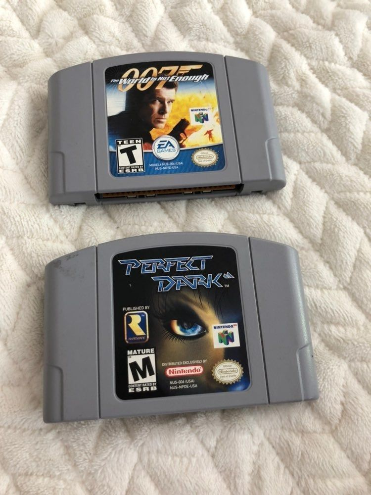 Nintendo 64 Games 007 The World Is Not Enough And Perfect Dark
