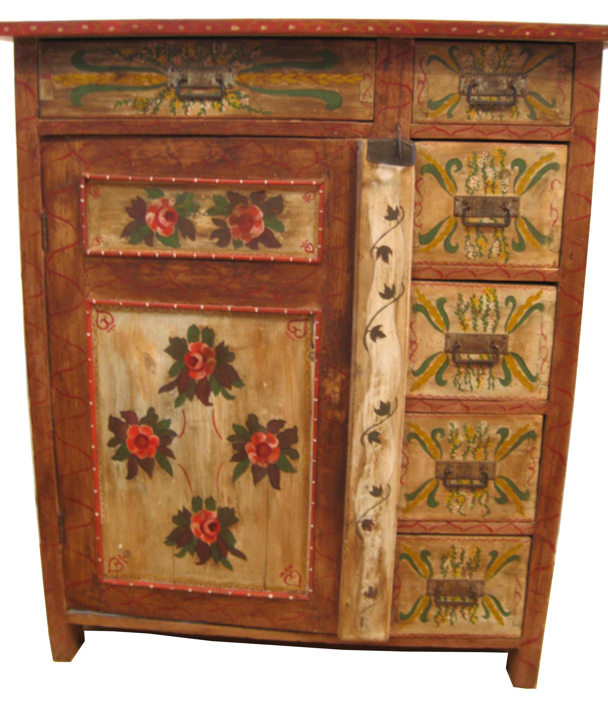 1880s Painted Pennsylvania Dutch Cabinet. 1880s Painted Pennsylvania Dutch Cabinet   Pennsylvania dutch