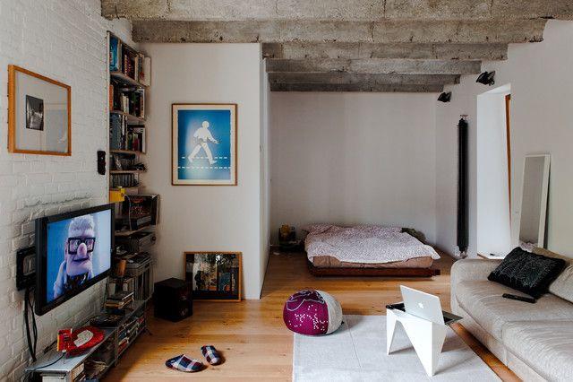 modern studio apartment room by Gut Gut