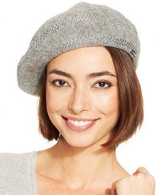 a09b37b1 Calvin Klein Studded Wool Beret | Accessories | Wool berets, Beret ...