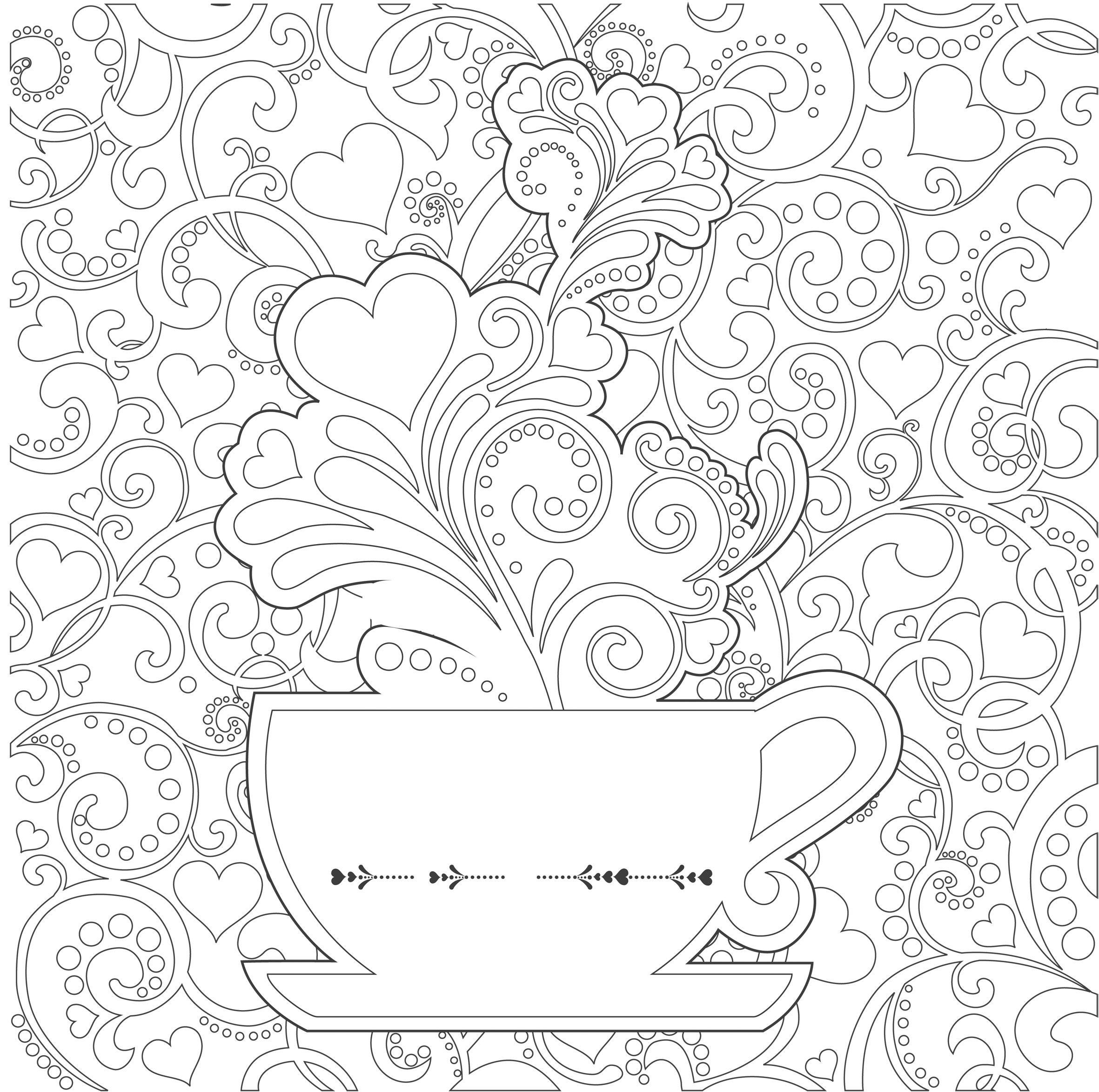 coloriage anti stress vintage a imprimer
