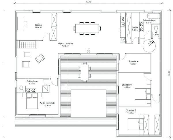 Plan Maison Japonaise Maison Traditionnelle Japonaise Plan Maison Plain Pied Avec Patio Plan Maison Plan Maison En U Plan De Maison Avec Patio